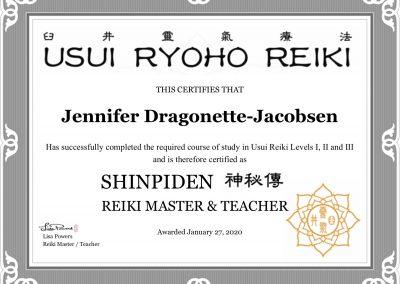 Reiki Master Cert
